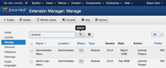 Remove a Joomla 3 component, module or plugin
